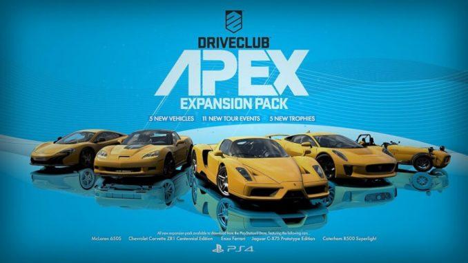 Driveclub Apex gamepare