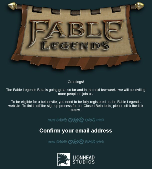 Mail Fable Legends gamepare