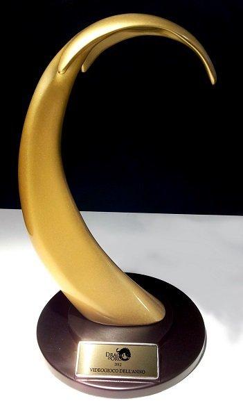 statuetta premio drago doro