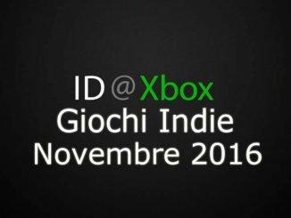 ID@Xbox Novembre 2016