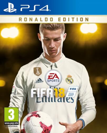 Cristiano Ronaldo come cover star globale di FIFA 18