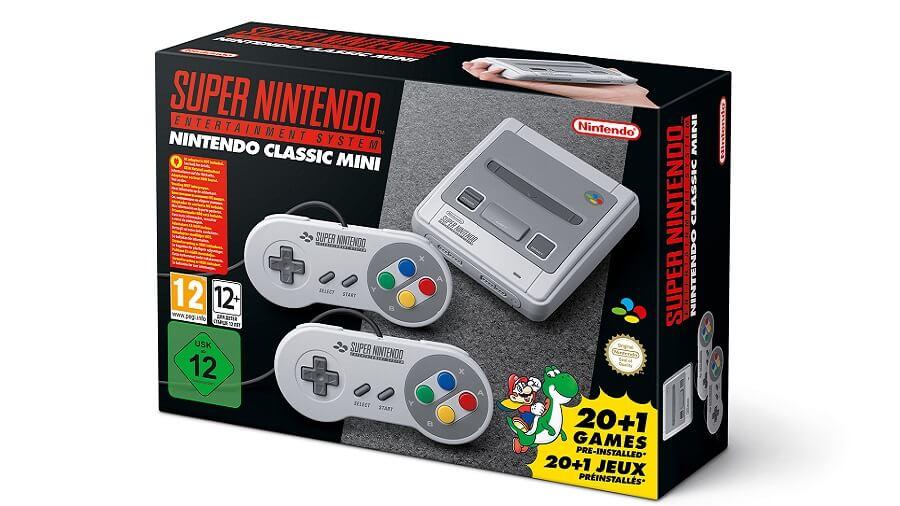 Super Nintendo Mini Scatola