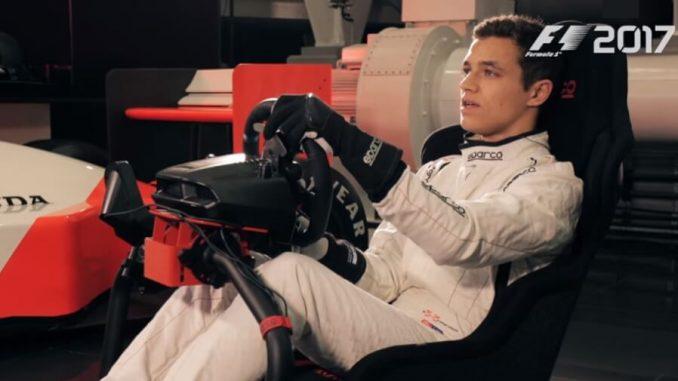 Lando Norris prova il videogioco F1 2017
