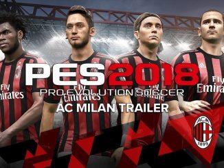 PES 2018 e AC Milan
