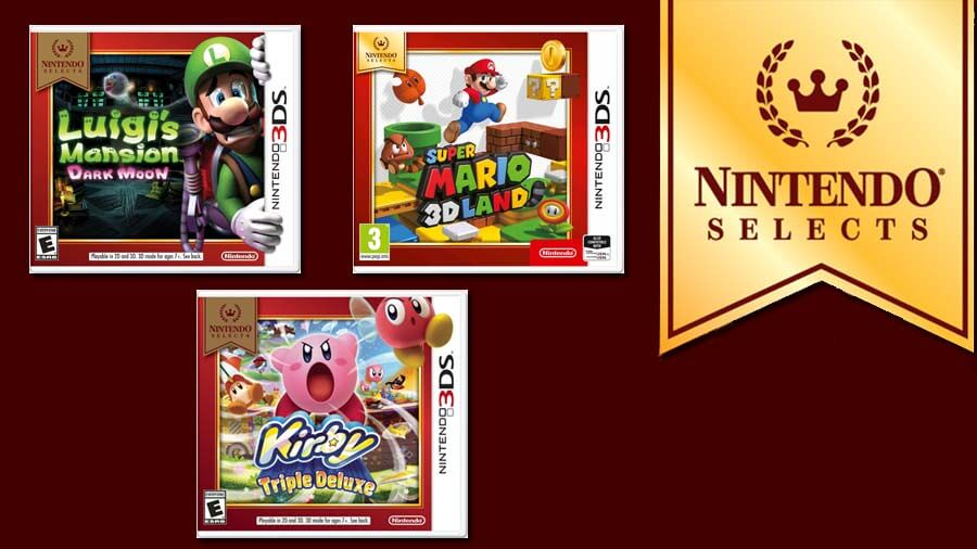 SUPER MARIO 3D LAND, Kirby: Triple Deluxe e Luigi's Mansion 2