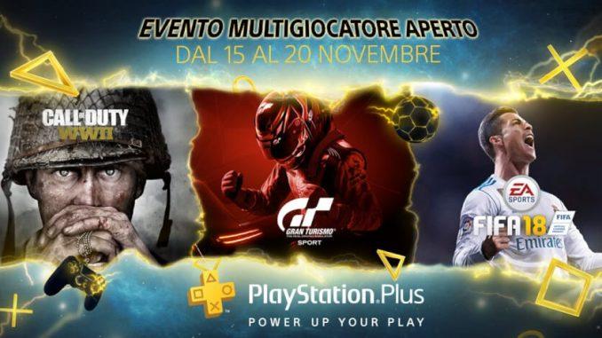 PS Plus - Evento Multigiocatore Aperto
