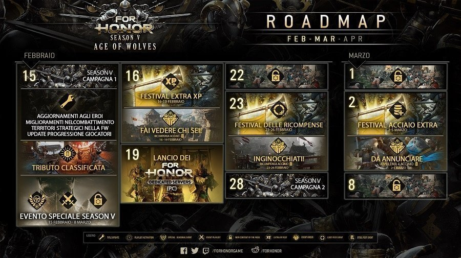 Helix Hero For Honor Roadmap Febbraio