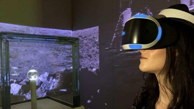 PlayStation VR-Museo Nazionale Scienza Tecnologia-area Spazio-Luna