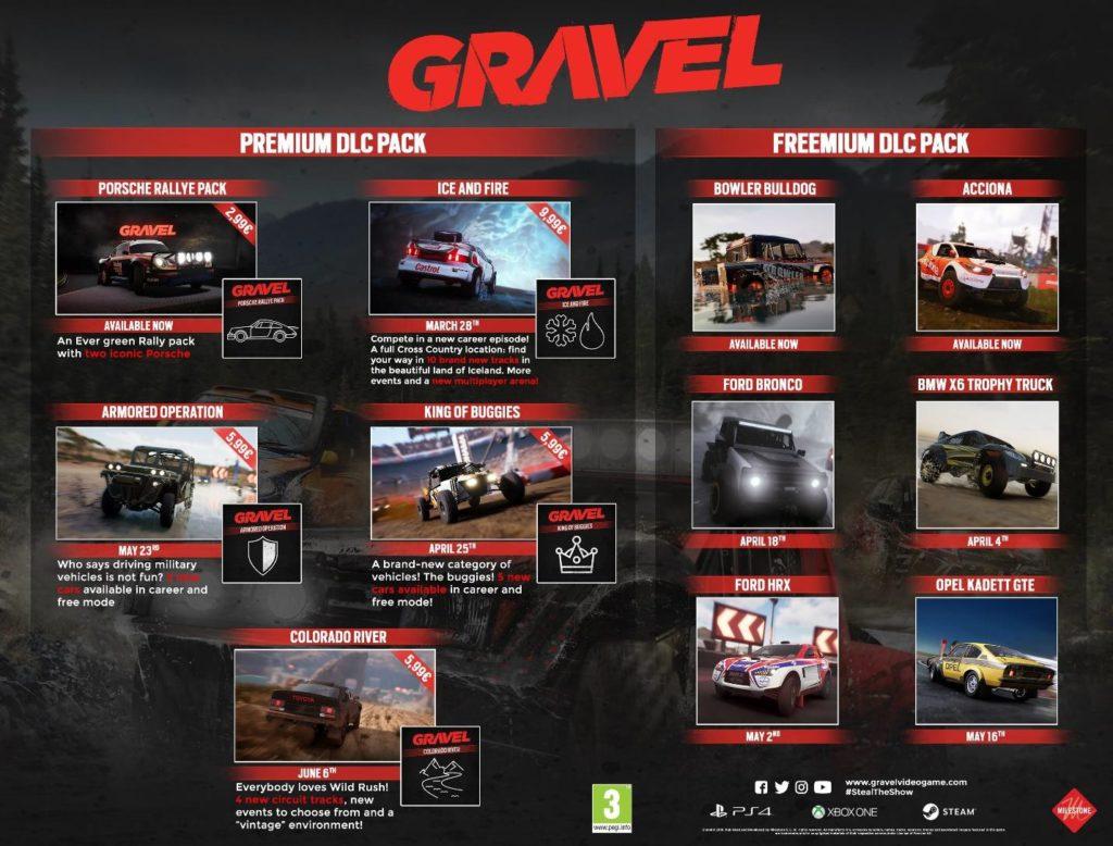 GRAVEL DLC calendar