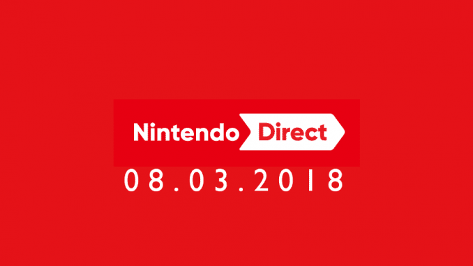 Nintendo Direct 08 Marzo