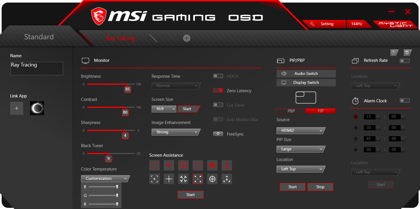 MSI Gaming OSD Ray Tracing