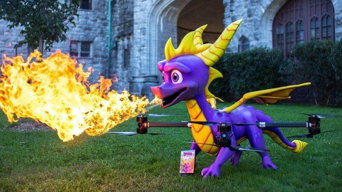 drone di Spyro a grandezza naturale