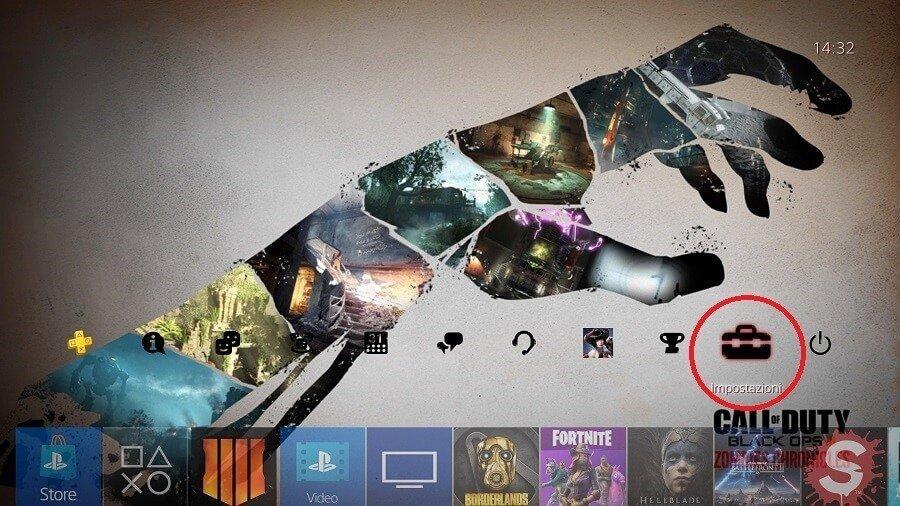 Impostazioni PS4