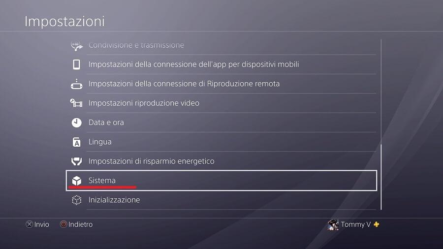 Sistema PS4