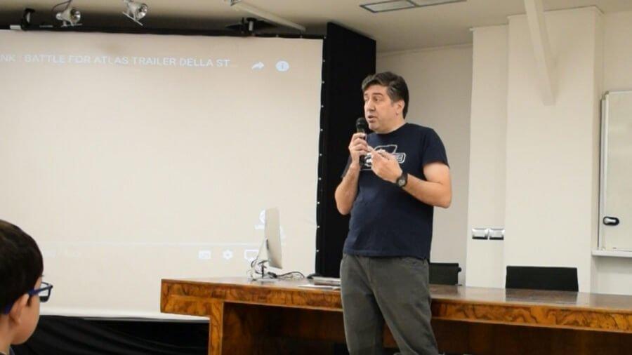 Giacomo Cusano, mentor di CoderDojo Milano e docente allo IED dei corsi di grafica multimediale