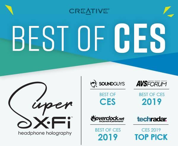 BEST OF CES 2019 creative Super X-Fi