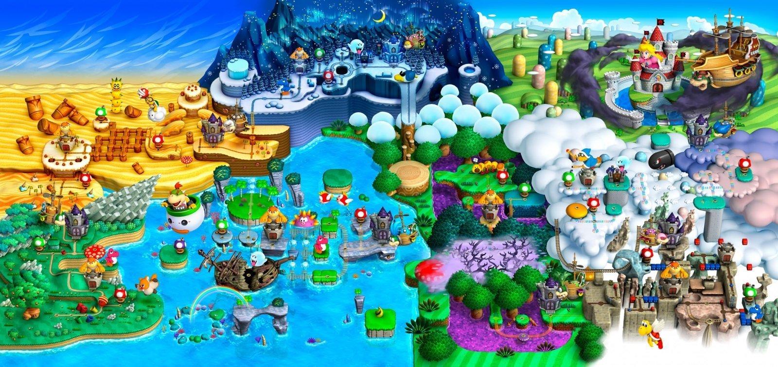 New Super Mario Bros. U Deluxe Mappa