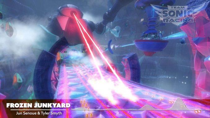 """""""Frozen Junkyard"""" in Team Sonic Racing"""