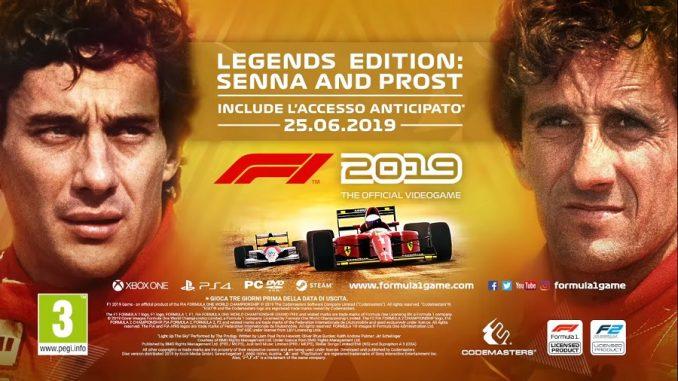 F1 2019 Ayrton Senna e Alain Prost
