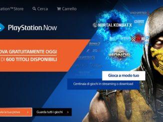 PlayStation Now Avvia la tua prova