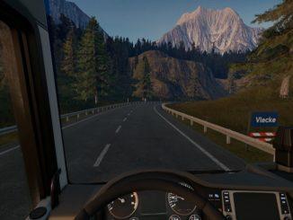 Truck Driver dentro al veicolo