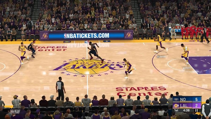 NBA 2K20 Gameplay - Los Angeles Lakers vs New Orleans Pelicans - screenshot