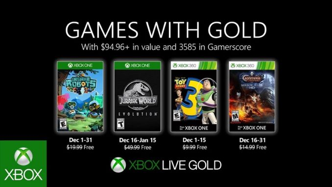Games with Gold Dicembre 2019