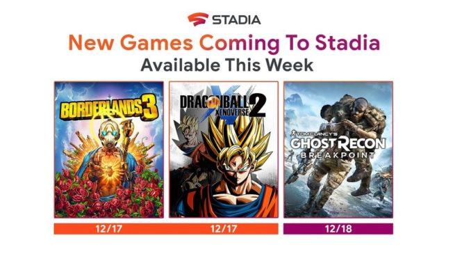 Stadia Dragonball 2, Borderlands 3