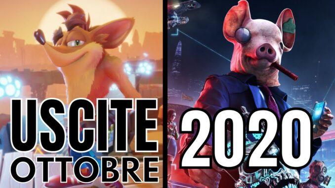 Uscite videogiochi ottobre 2020