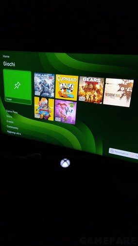 Dashboard Xbox series X