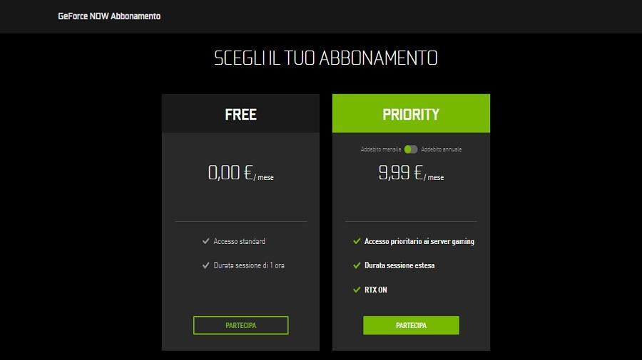 Geforce Now Abbonamento